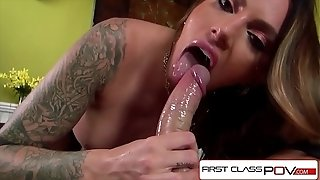 FirstClassPOV - Juelz Ventura deepthroating a monster stiffy, bouncy arse & phat globes