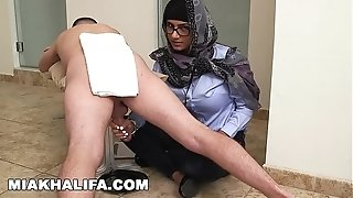 MIA KHALIFA - Your fave Arab superstar jacking 2 spunk-pumps Just For joy