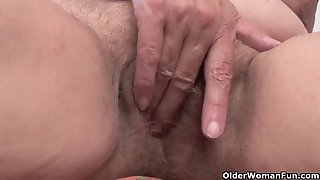 Hairy granny likes anal invasion romp