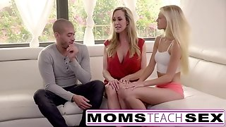 Moms teach hook-up - ginormous breast mom catches daughter