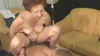 Insatiable grandmother And A fellow Having fuck-fest