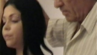 Senior gropers youthfull girl's large bra-stuffers seized by senior fellow part1a
