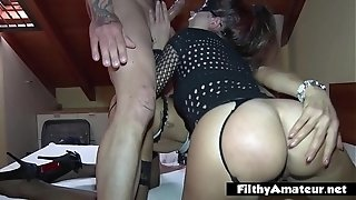 2 depraved wives take manstick in the bum secretly in first-timer