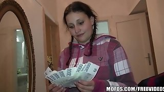 Pretty Czech college girl trades hookup for cash