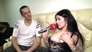 MAGMA FILM huge-boobed German dark-haired jizzed on