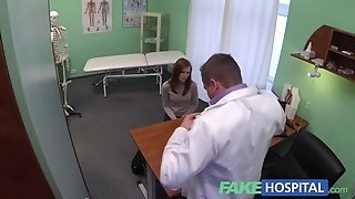Fake polyclinic innocent red-haired gets a inner ejaculation prescription