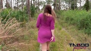 Smashing My hefty bootie Stepmom Outdoors pov inner ejaculation