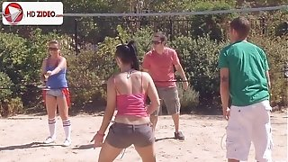 How to make badminton Ashli Orion Kaci Starr HD porno