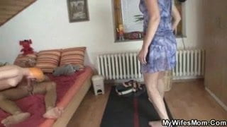 Mommy catch her daughter-in-law husband porking rubber damsel