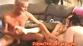 DADDYS Swinger Family heads bisexous and shares pipe spunk and honeypot