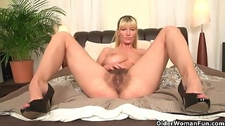 Soccer moms with enormous mounds and fur covered honeypot jack