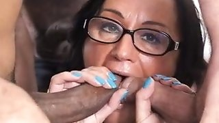 SCAMBISTI MATURI - Italian swinger in interracial dual foray bang-out