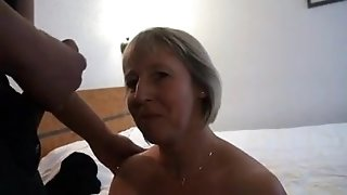 French mature Nelly analfucked in front of her spouse
