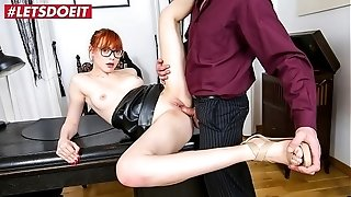 LETSDOEIT - red-haired Office honey Anny Aurora Pussylicked And torn up