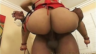 Ultra-kinky black chick railing and inhaling black fuckpole