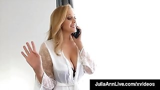 Step-Mom Julia Ann rams Her gash With Step-Son's pipe!