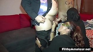 Real fucky-fucky with priest and 2 naughty wives