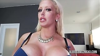 Gigantic-chested milf Alura Jenson has her gigantic rump worshipped
