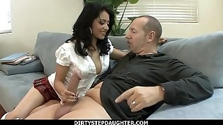 DirtyStepDaughter - kinky schoolgirl Andrea Kelly nailing Her educator
