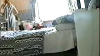 See my step-sister jacking. Hidden web cam