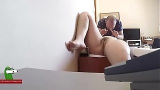 The spy web cam records the softcore rubdown and the oral romp ADR0457