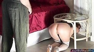 Stuck stepmom gets romped by stepson - Erin Electra