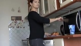 Magnificent mature sandy-haired wifey splooging