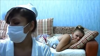 Nurse with huge dump does injection
