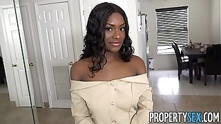 PropertySex - huge-boobed exotic real estate agent pulverized by giant chisel