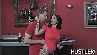 Tatted cutie Harlow Harrison analled by future employer
