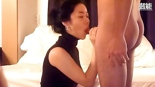 Japanese wifey deep throat and nail part one
