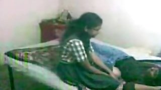 Adorable nerdy glassed indian nymph makes a sextape