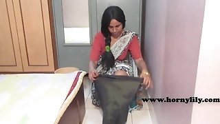 HornyLily Indian maid demonstrates off her vulva