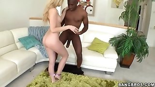 Phat dark-hued beef whistle for baby with appetizing ass Abagaile Johnson