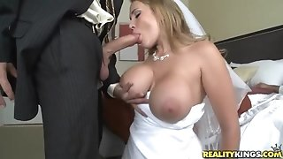 Fabulous bride Alanah Rae cheats on her groom with hottest friend!