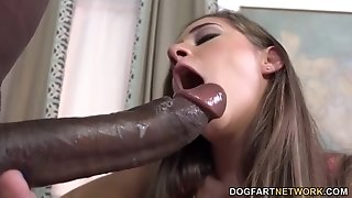 Cassidy Klein sates A big black cock With Her feet