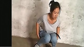 Spy japanese gal in Village rest room