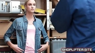 Adventurous Shoplifting Amature Spy-Cam pounding In Store Backroom