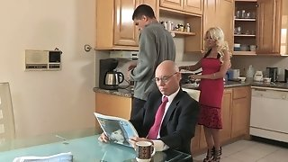Cheating super-steamy stepmom tears up for breakfast