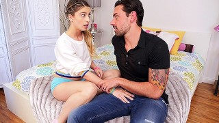 CUM4K Step dad fuck-a-thon education pummel with inner ejaculation