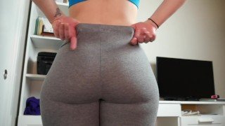 Ashley Alban Quickie stretch pants Joi [60fps]