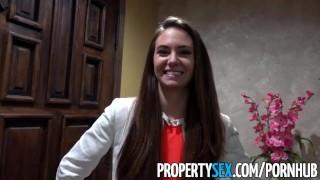 PropertySex - Real estate agent pokes film producer customer