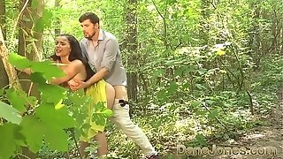 Dane Jones fellatio and outdoor fuck-a-thon in a summer sundress and kitchen quickie