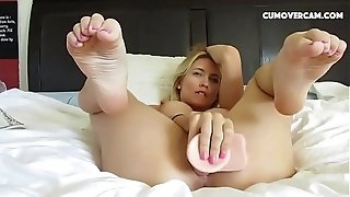 Nasty platinum-blonde bangs fuck stick rock-hard - cumovercam . Com