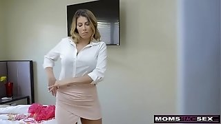 MommysTeachSex - sizzling mommy Caught With StepSiblings In three way! S8:E6