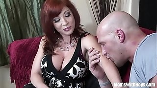 Ginger-haired mother Brittany O'Connell Pierced labia In wondrous stocking pulverized