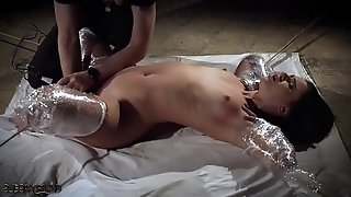 Tough restrain bondage spanking her vagina and the marionette squeals