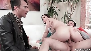 Ginormous mounds brown-haired stunner Sovereign Syre Cucks Her spouse By plumbing Her physician