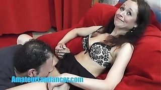 Czech milf lapdances and bangs like a professional