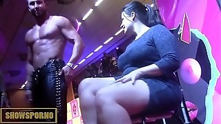 Bigdick stripper and pillar dancer on stage